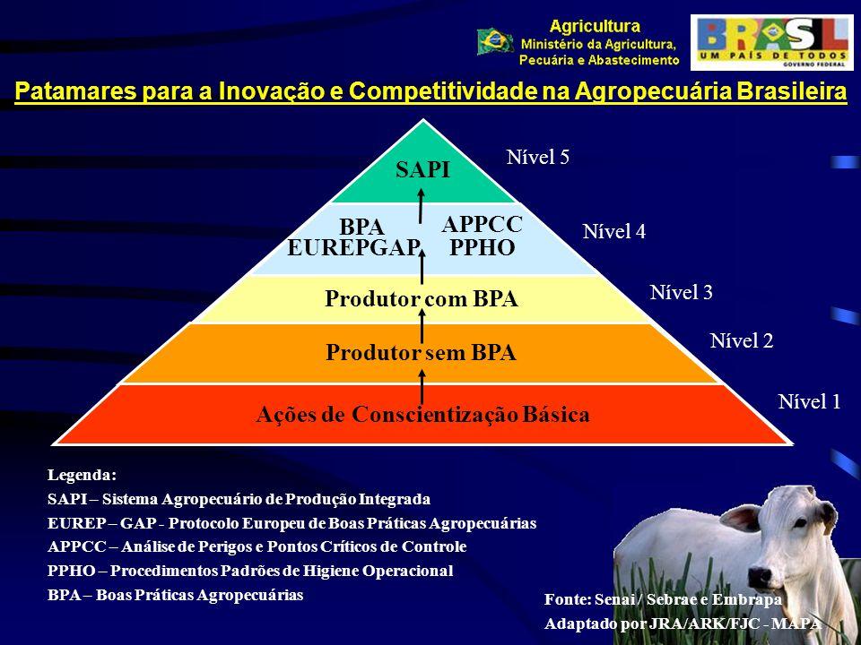 Patamares para a Inovação e Competitividade na Agropecuária Brasileira