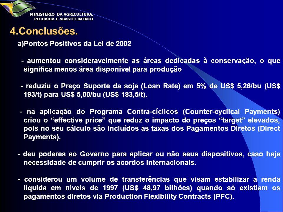 4.Conclusões. a)Pontos Positivos da Lei de 2002