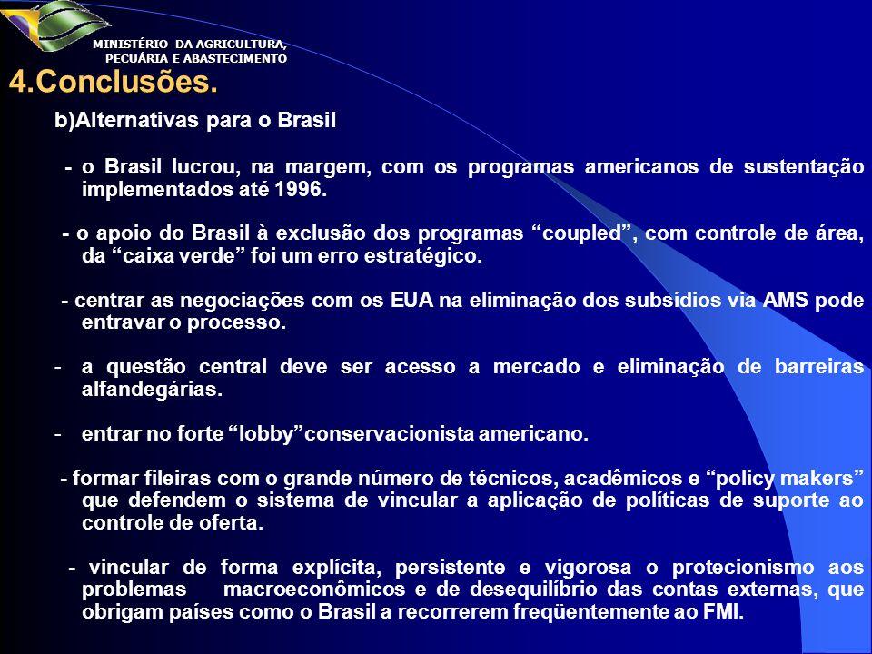 4.Conclusões. b)Alternativas para o Brasil