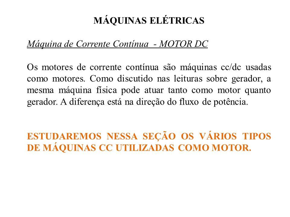 MÁQUINAS ELÉTRICAS Máquina de Corrente Contínua - MOTOR DC.