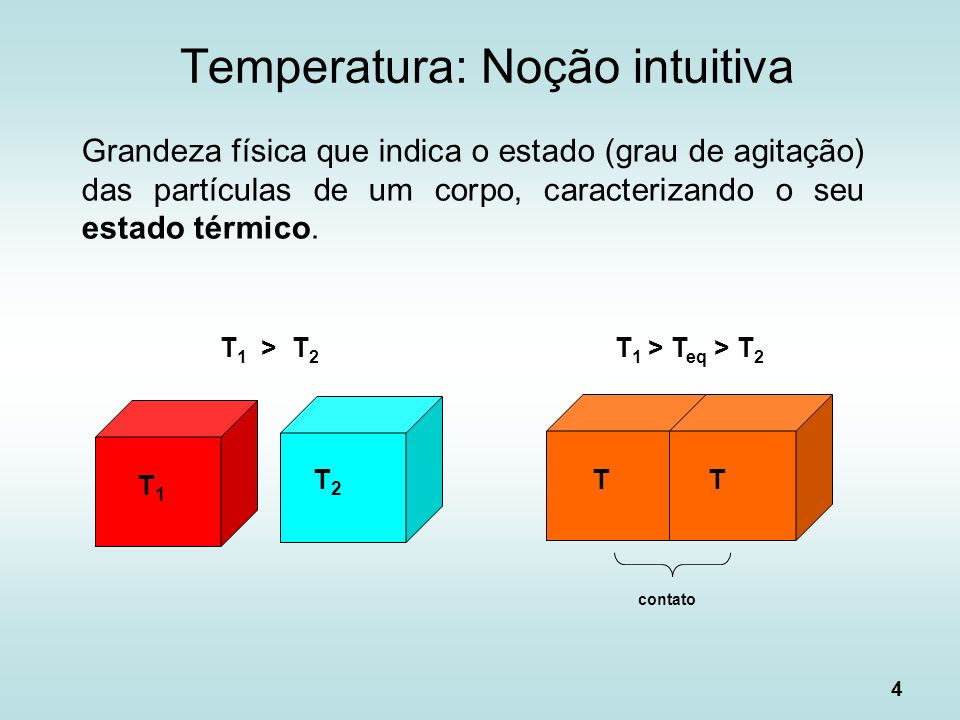 Temperatura: Noção intuitiva