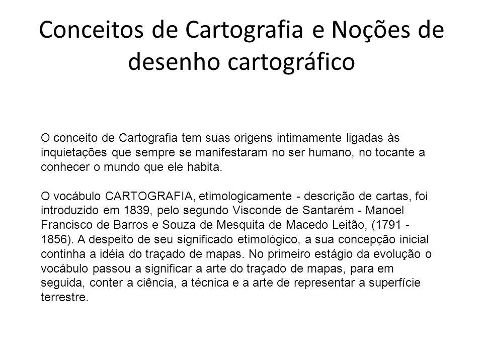 Conceitos de Cartografia e Noções de desenho cartográfico