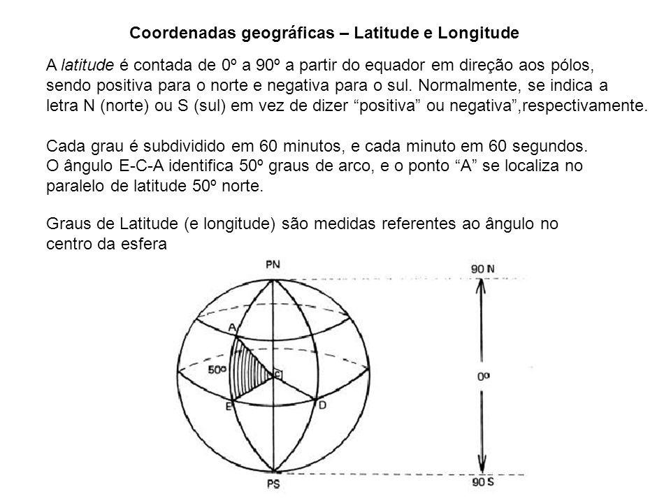 Coordenadas geográficas – Latitude e Longitude