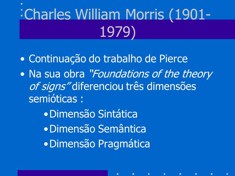 Charles William Morris (1901-1979)