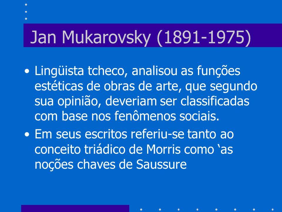 Jan Mukarovsky (1891-1975)