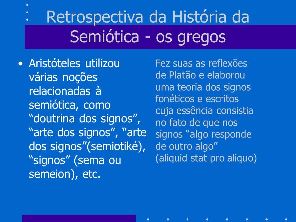 Retrospectiva da História da Semiótica - os gregos