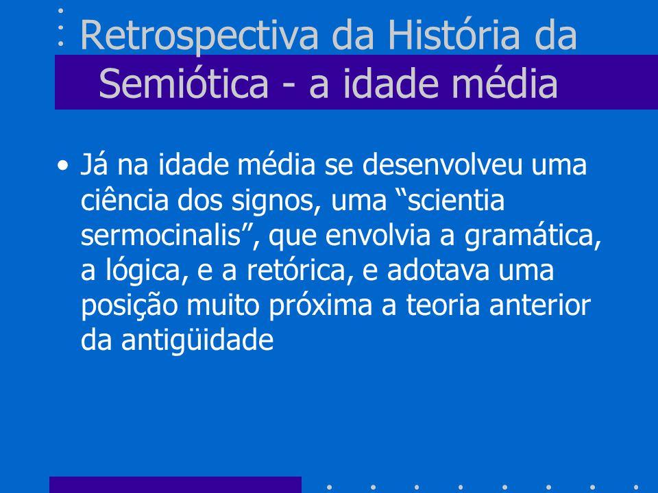 Retrospectiva da História da Semiótica - a idade média