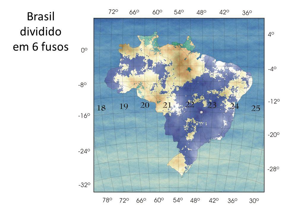 Brasil dividido em 6 fusos