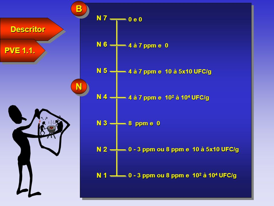 B N Descritor PVE 1.1. N 7 N 6 N 5 N 4 N 3 N 2 N 1 0 e 0 4 à 7 ppm e 0