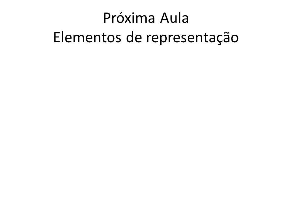 Próxima Aula Elementos de representação