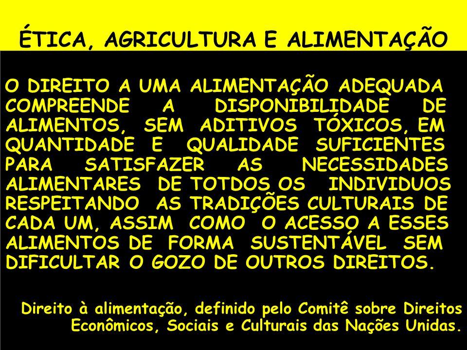 ÉTICA, AGRICULTURA E ALIMENTAÇÃO