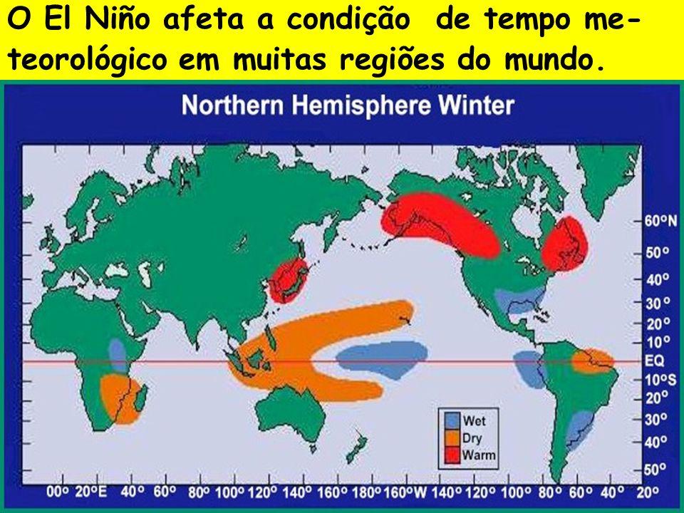 O El Niño afeta a condição de tempo me-