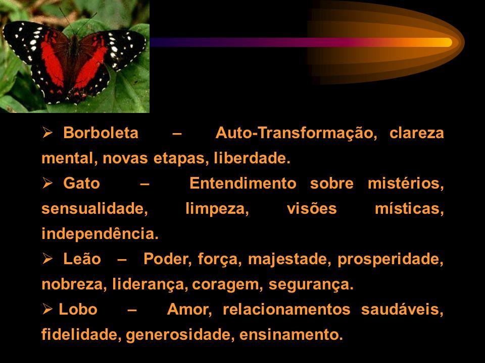 Borboleta – Auto-Transformação, clareza mental, novas etapas, liberdade.