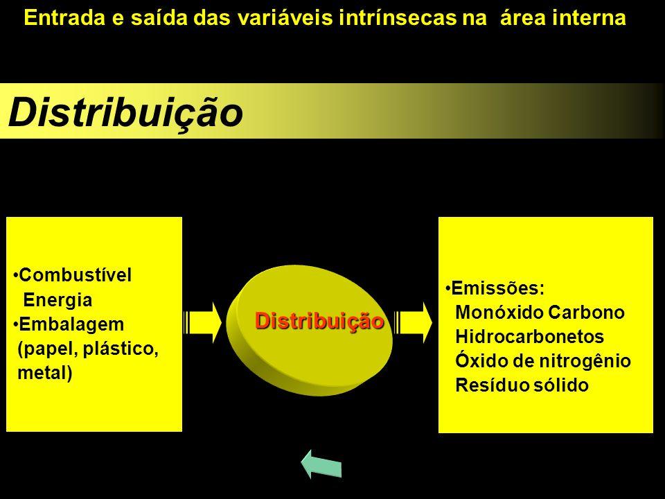 Distribuição Entrada e saída das variáveis intrínsecas na área interna