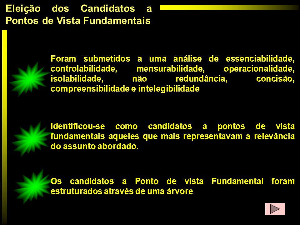 Eleição dos Candidatos a Pontos de Vista Fundamentais