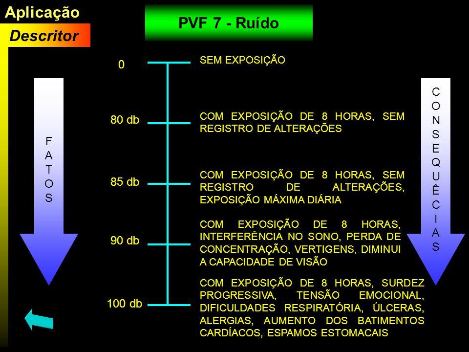 Aplicação PVF 7 - Ruído Descritor C O N S F E 80 db A Q T U O Ê S I A