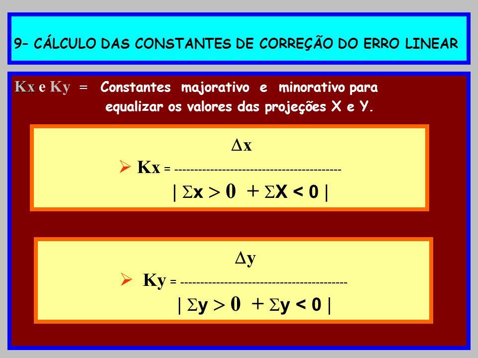 9– CÁLCULO DAS CONSTANTES DE CORREÇÃO DO ERRO LINEAR