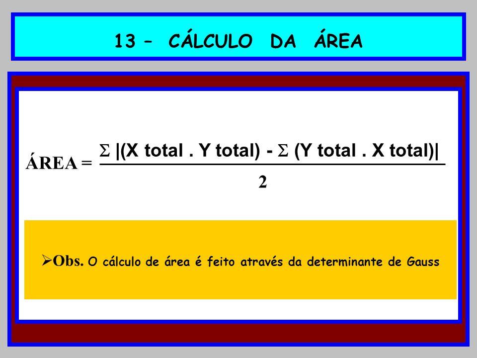  |(X total . Y total) -  (Y total . X total)|