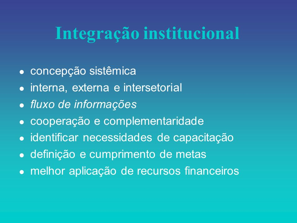 Integração institucional