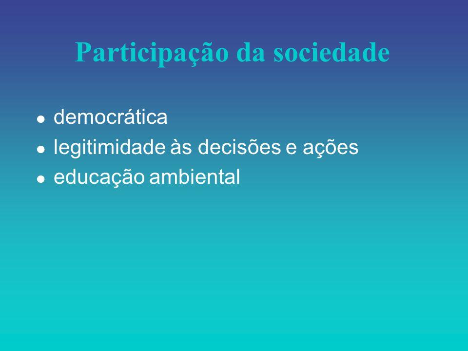 Participação da sociedade