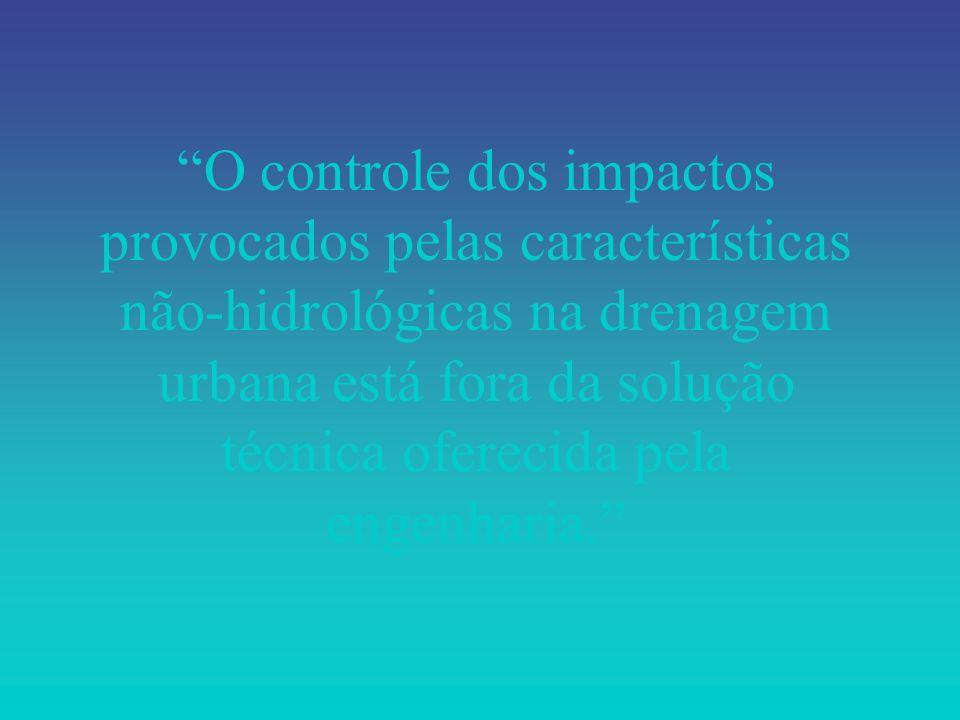O controle dos impactos provocados pelas características não-hidrológicas na drenagem urbana está fora da solução técnica oferecida pela engenharia.