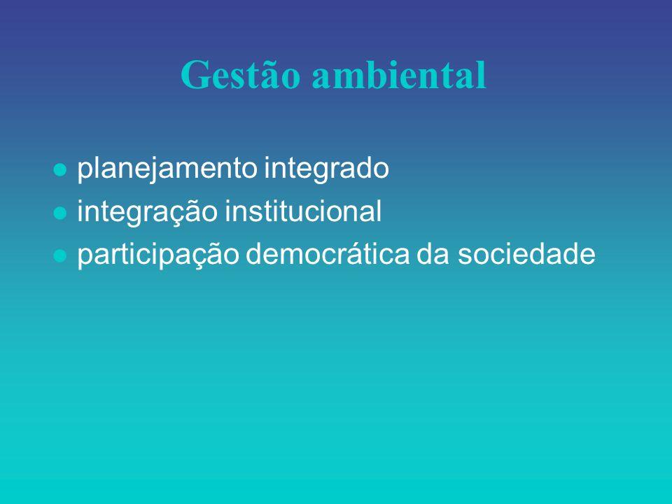 Gestão ambiental planejamento integrado integração institucional