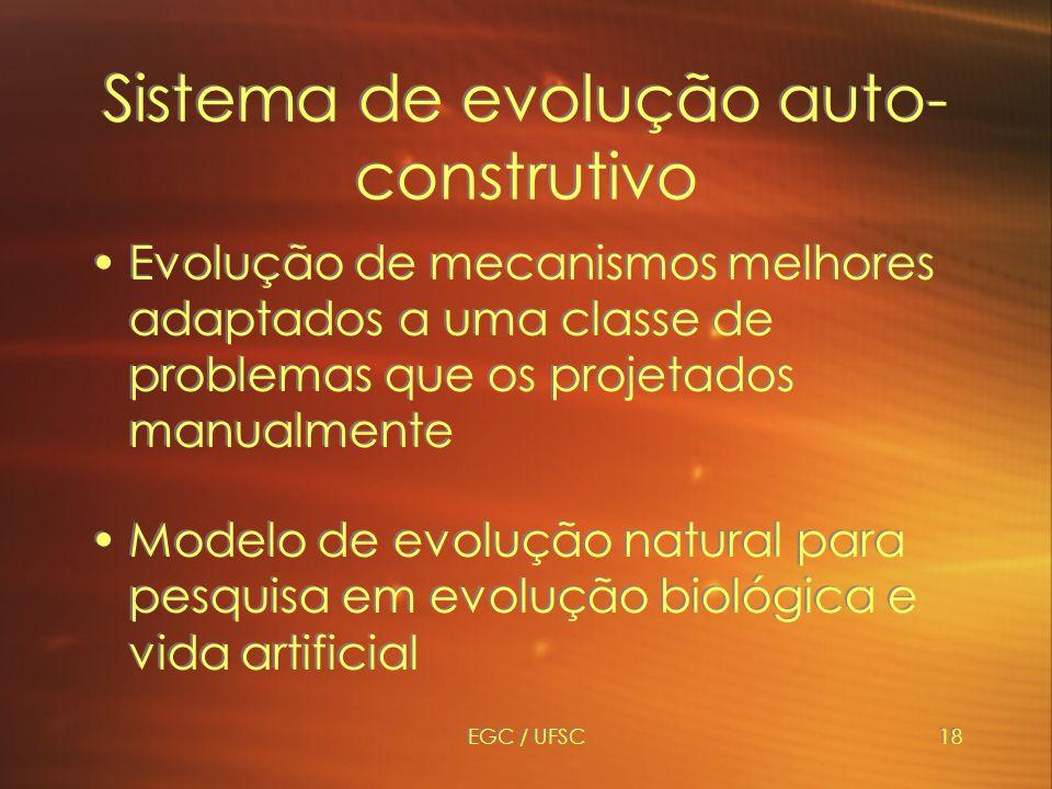 Sistema de evolução auto-construtivo