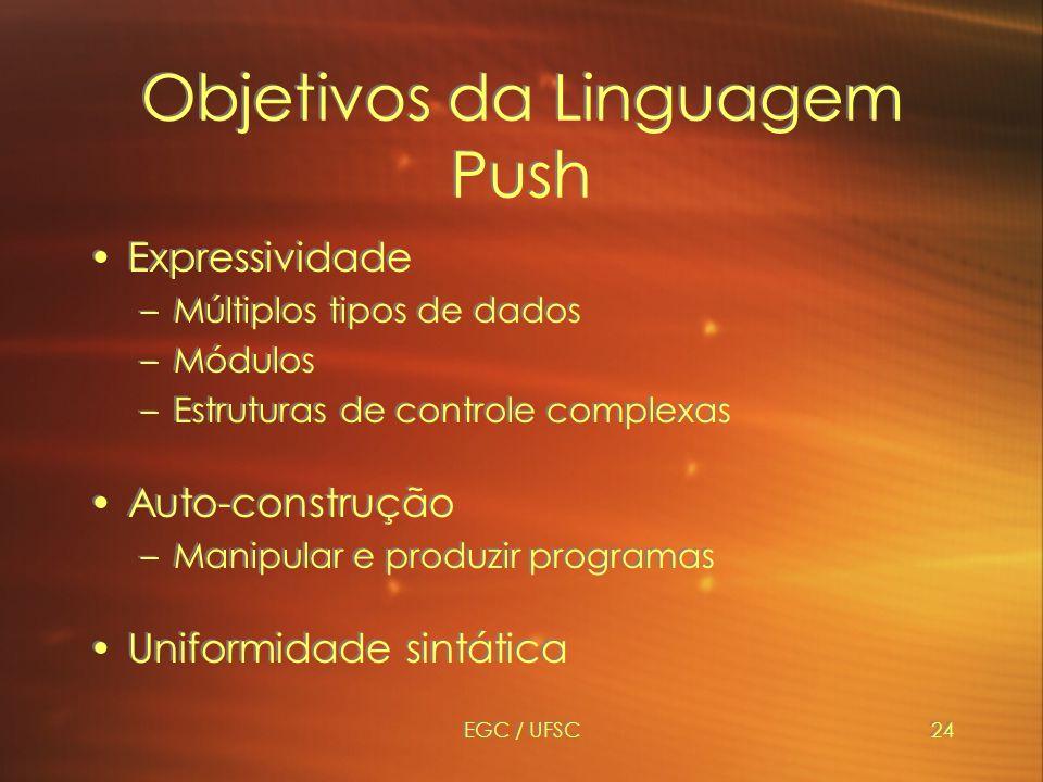 Objetivos da Linguagem Push