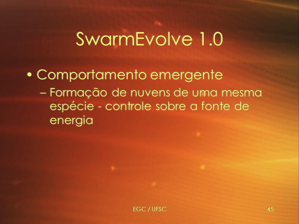 SwarmEvolve 1.0 Comportamento emergente