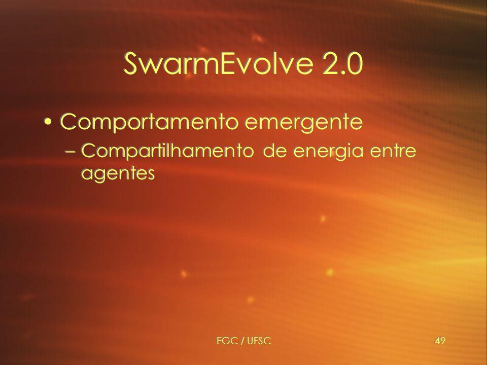 SwarmEvolve 2.0 Comportamento emergente
