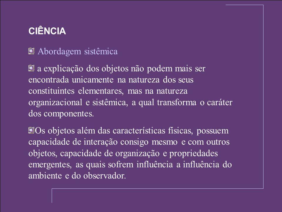 CIÊNCIA Abordagem sistêmica.