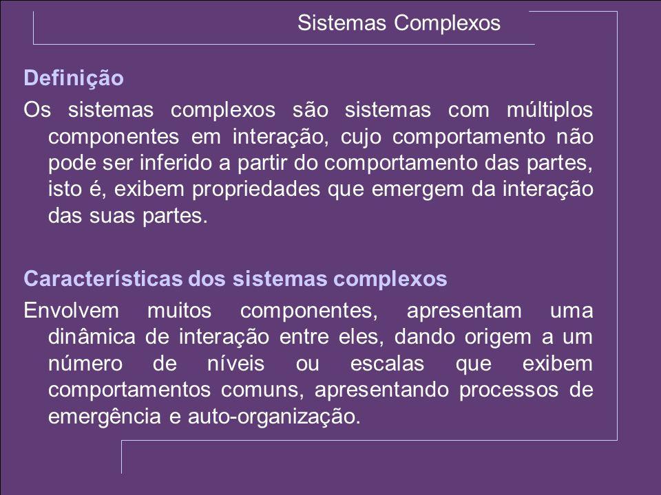 Sistemas Complexos Definição.