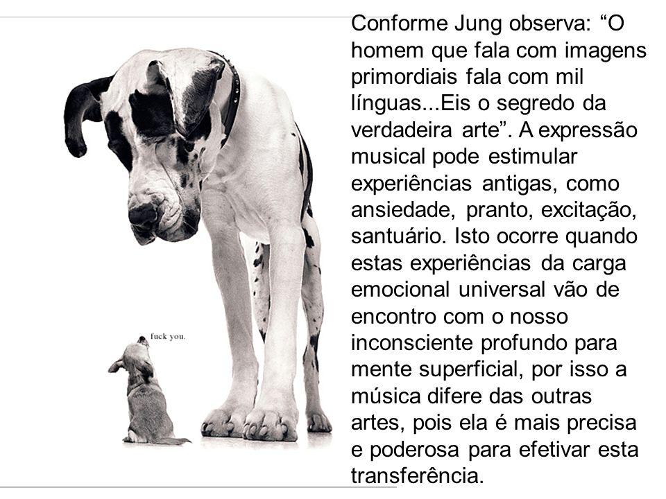 Conforme Jung observa: O homem que fala com imagens primordiais fala com mil línguas...Eis o segredo da verdadeira arte .