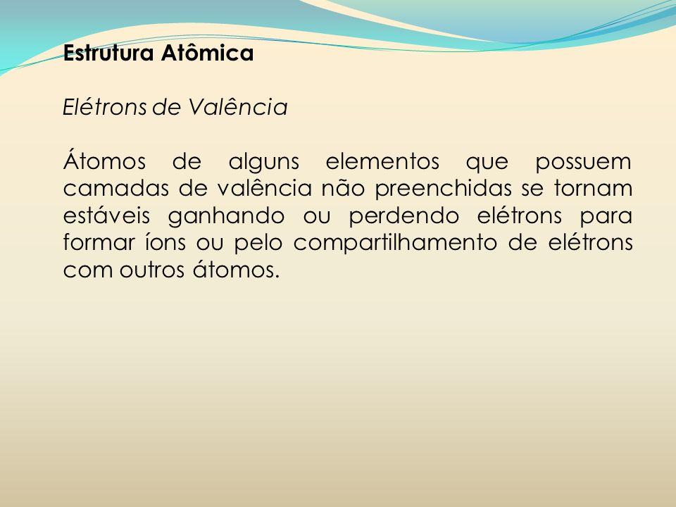 Estrutura AtômicaElétrons de Valência.