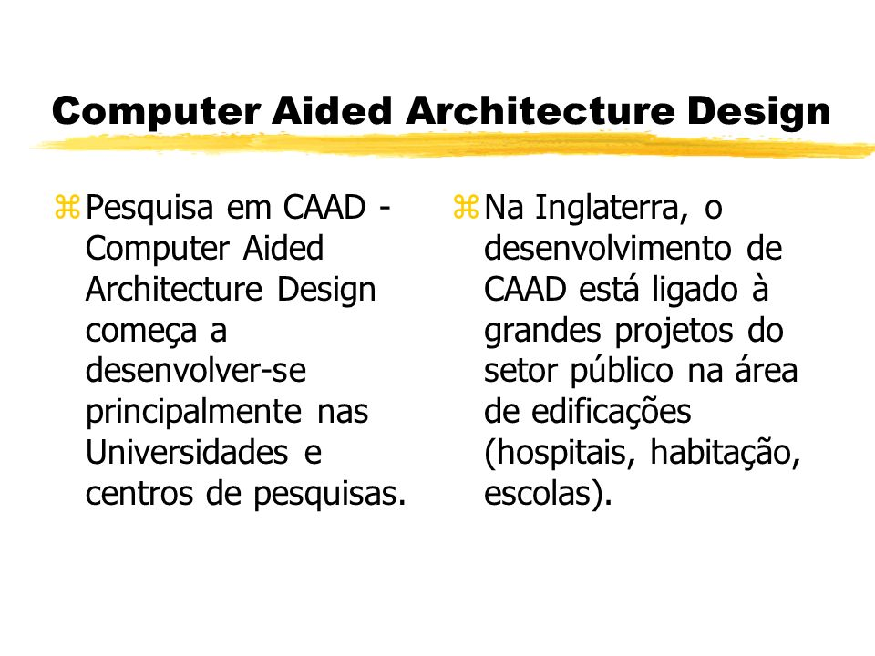 Computer Aided Architecture Design