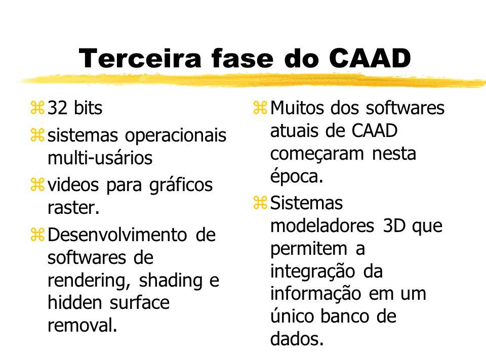 Terceira fase do CAAD 32 bits sistemas operacionais multi-usários