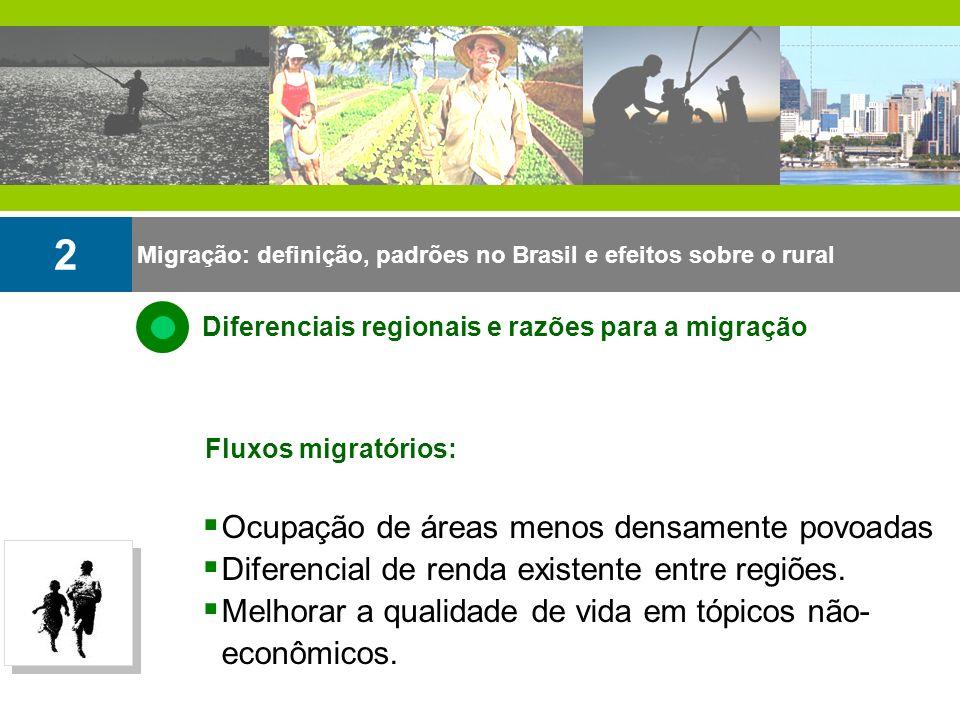 2 Ocupação de áreas menos densamente povoadas
