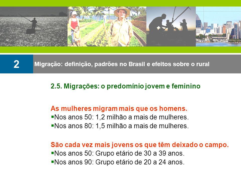 2 2.5. Migrações: o predomínio jovem e feminino