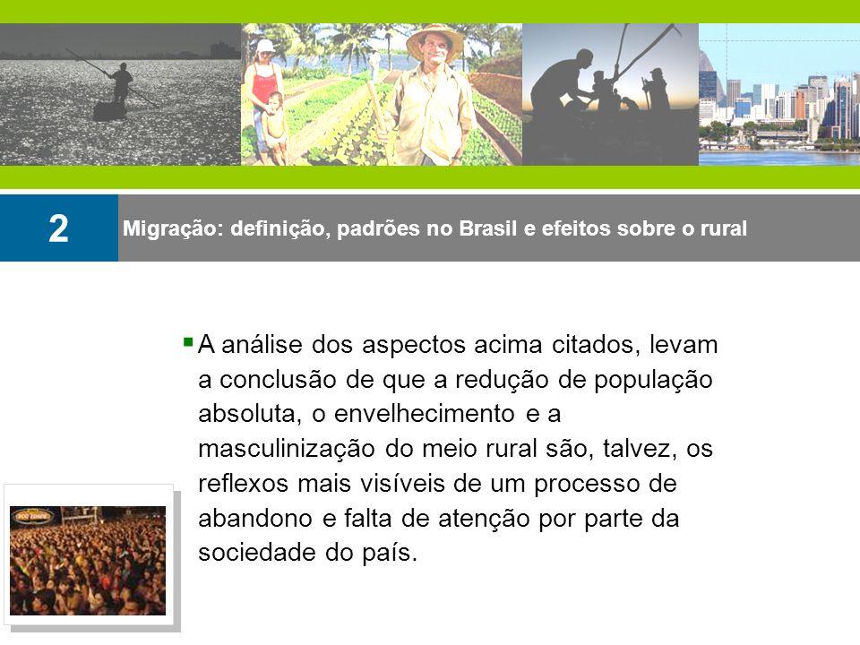 Migração: definição, padrões no Brasil e efeitos sobre o rural