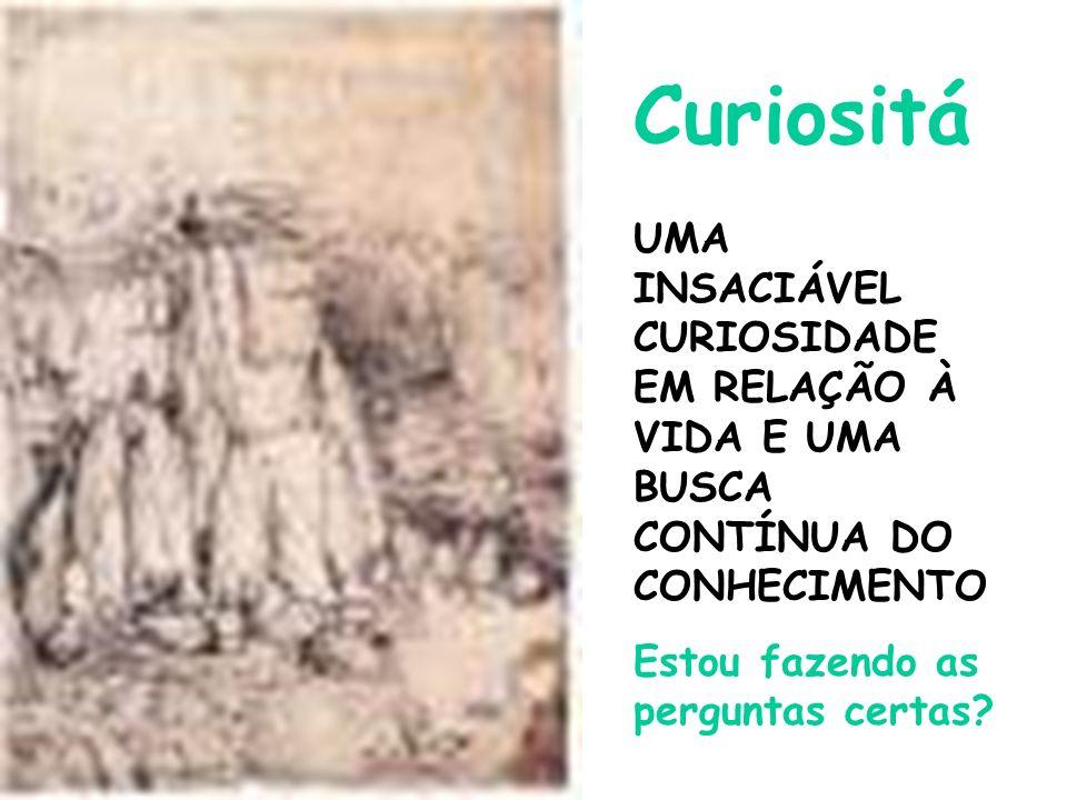 CuriositáUMA INSACIÁVEL CURIOSIDADE EM RELAÇÃO À VIDA E UMA BUSCA CONTÍNUA DO CONHECIMENTO.