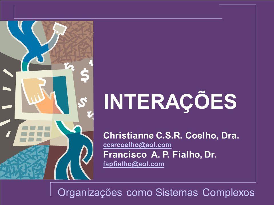 INTERAÇÕES Organizações como Sistemas Complexos