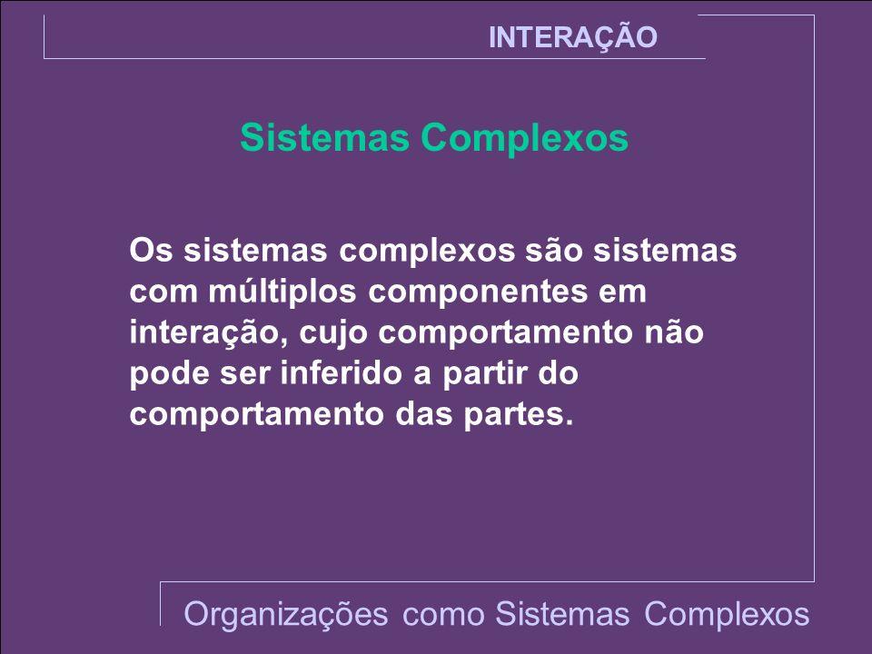 INTERAÇÃO Sistemas Complexos.