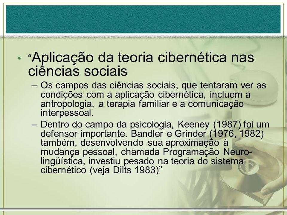 Aplicação da teoria cibernética nas ciências sociais