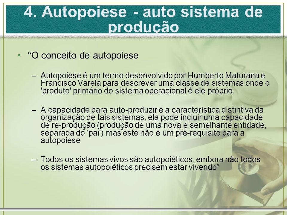 4. Autopoiese - auto sistema de produção