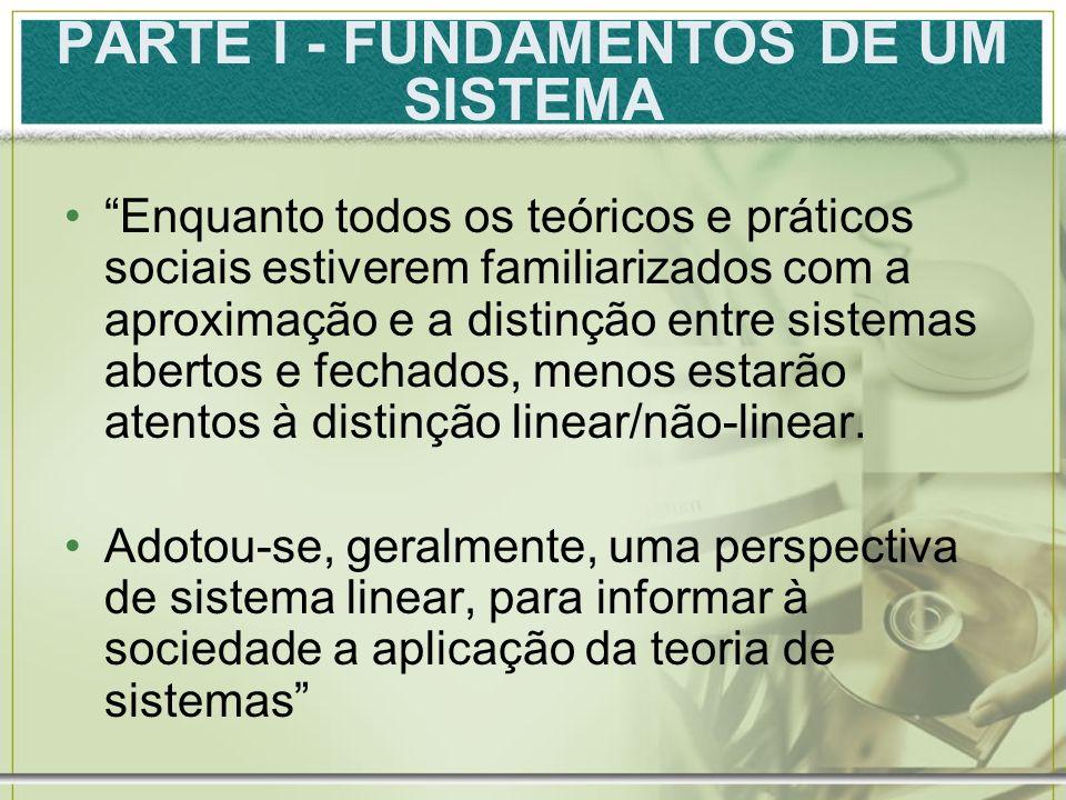 PARTE I - FUNDAMENTOS DE UM SISTEMA
