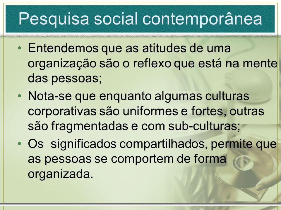 Pesquisa social contemporânea