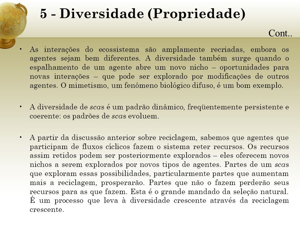 5 - Diversidade (Propriedade)