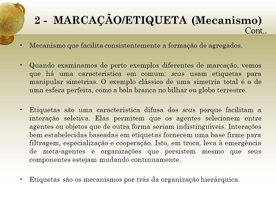 2 - MARCAÇÃO/ETIQUETA (Mecanismo)