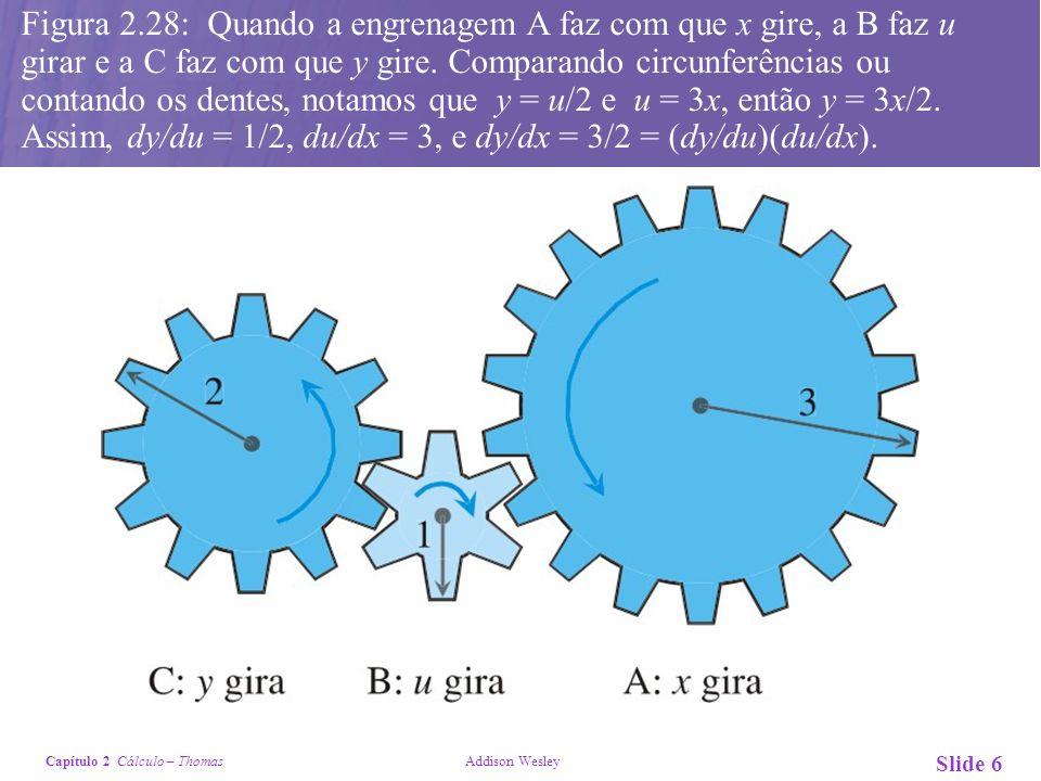 Figura 2.28: Quando a engrenagem A faz com que x gire, a B faz u girar e a C faz com que y gire.