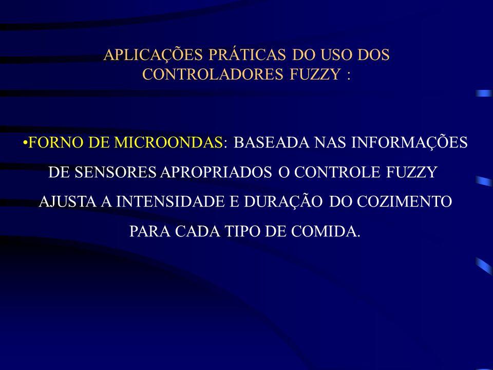 APLICAÇÕES PRÁTICAS DO USO DOS CONTROLADORES FUZZY :